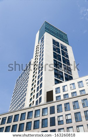 modern office building in Berlin - stock photo