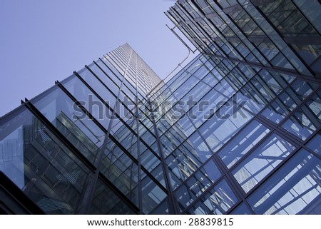 Modern office building (Kista science tower) - stock photo