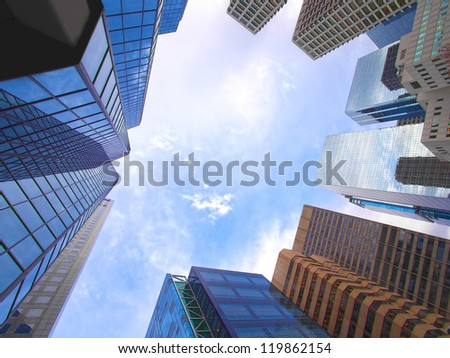 Modern office buildings - stock photo
