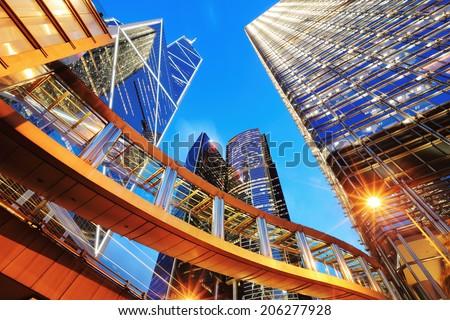 modern office buildings - stock photo