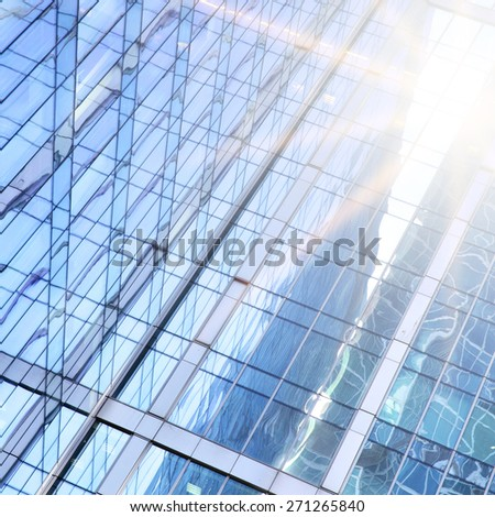 Modern office buildings - architectural and business background - stock photo