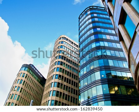 Modern Office Buildings. Bottom Up View - stock photo