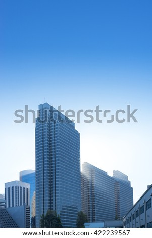 modern office buildings in blue sky
