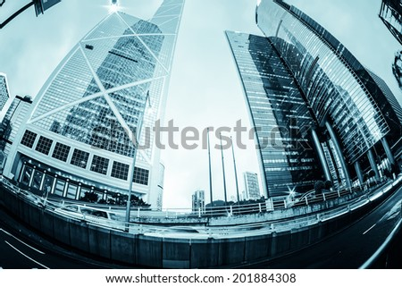 Modern office buildings in Central Hong Kong.