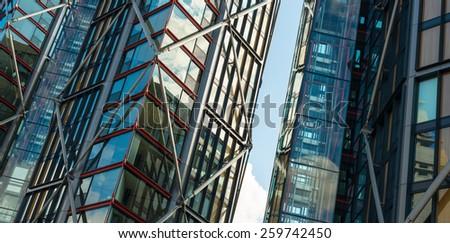 Modern Office Buildings in London. - stock photo