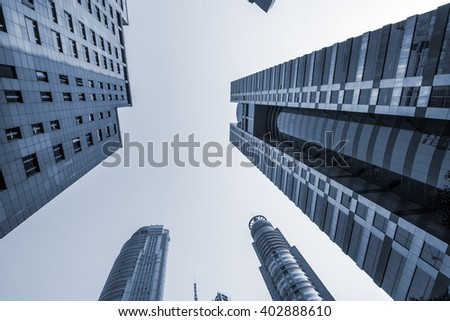 modern office buildings -Shanghai,China - stock photo
