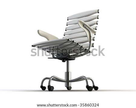 modern office chair on the white background - stock photo