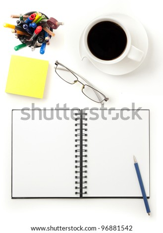 modern office desktop - stock photo