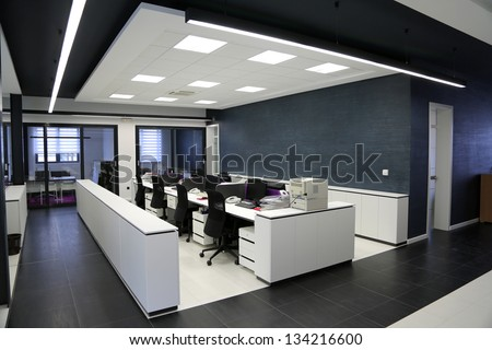 Modern office interior - stock photo