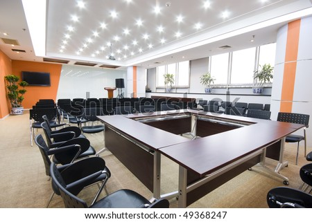 Modern office interior Boardroom - stock photo