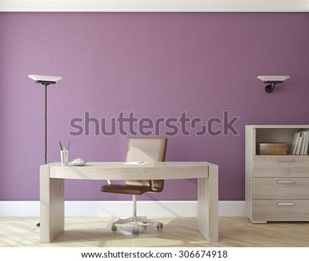Modern office interior.3d render. - stock photo