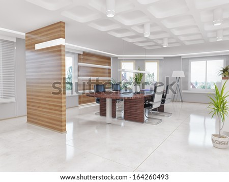 Modern Office Interior Design Concept Stock Illustration 164260493 ...