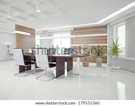 Modern Office Interior Design Concept Stock Illustration 179555360 ...