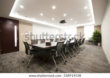 Modern office interior,Meeting room - stock photo