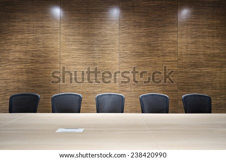 modern office meeting room interior - stock photo