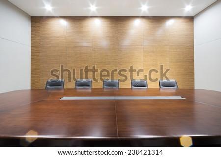 modern office meeting room interior - stock photo
