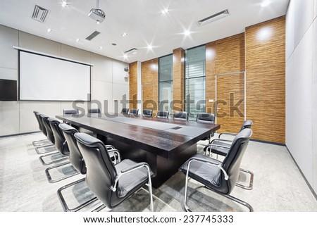 Modern Office Meeting Room Interior Decoration Stock Photo 237745333 ...