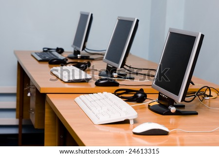 Modern office or training center interior - stock photo
