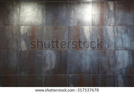 modern old looking stone tiles with spotlight. - stock photo