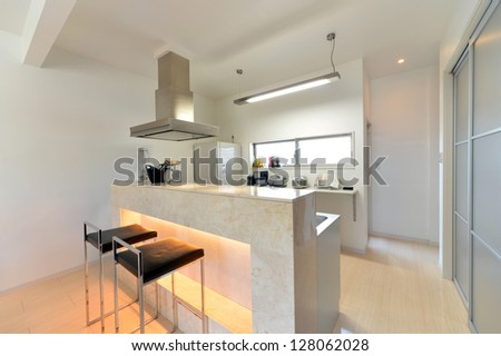 Modern open kitchen -1 - stock photo