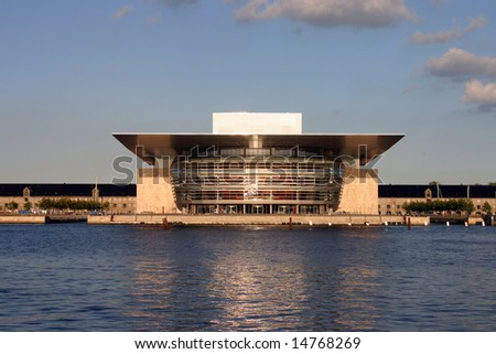 modern opera house building situated in the danish capital city of Copenhagen
