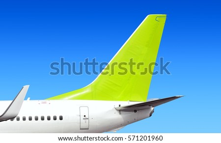 Modern Passenger Jet Aircraft Side Tail Silhouette Aircraft Parts Wing  Passenger Window Aft Exit Fin Antenna