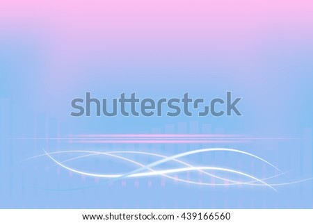 Modern pastel background with abstract smooth lines - stock photo