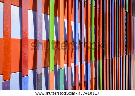 Modern pattern of facade paneling - linear structure