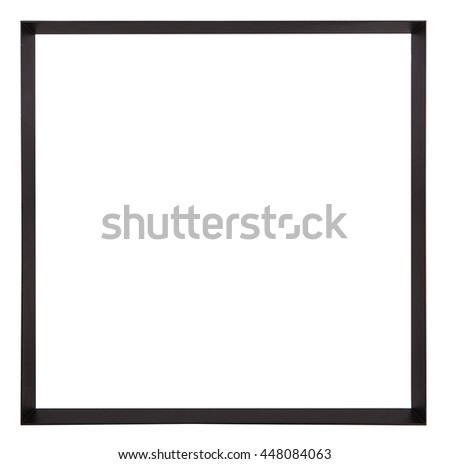 Modern photo frame blank on white background.