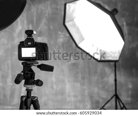 Modern photo studio interior with professional lighting equipment & Lighting Equipment Stock Images Royalty-Free Images u0026 Vectors ... azcodes.com