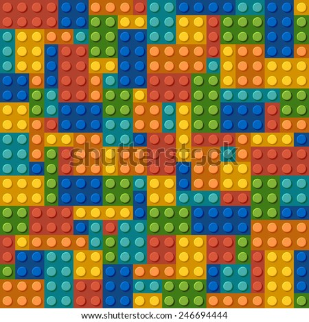 modern plastic constructor background texture.  - stock photo