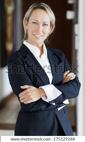 modern professional businesswoman - stock photo