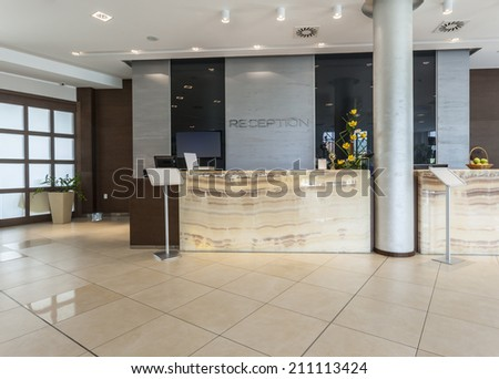 Modern reception area - stock photo