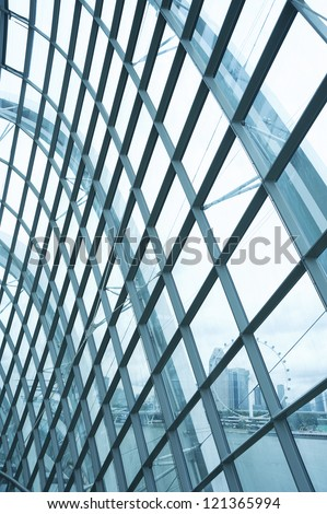 Modern reinforced steel glass Wall