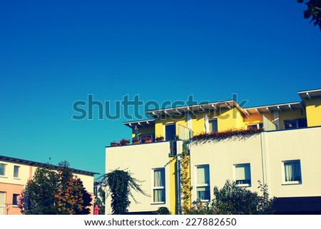 Modern Residential Apartment Block in Urban Area - stock photo
