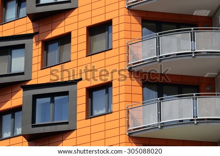 Modern residential apartments in Prague, Czech Republic - stock photo