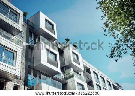modern residential architecture in berlin - stock photo