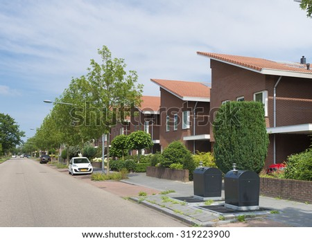 modern residential area in the netherlands - stock photo