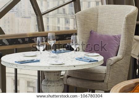 Modern restaurant interior - stock photo