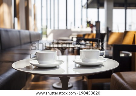 Modern restaurant interior with coffee  - stock photo