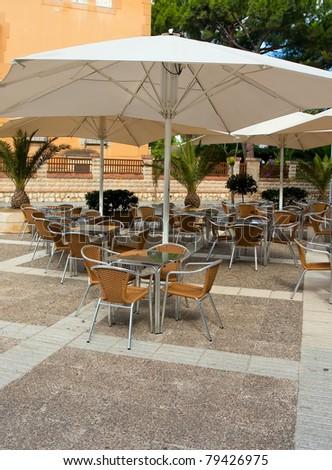 modern restaurant outdoor - stock photo