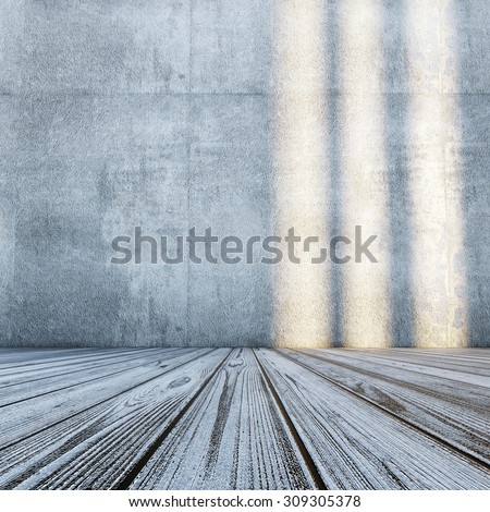 Modern room. All textures and maps my own photos - stock photo
