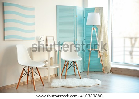 Modern room design interior - stock photo