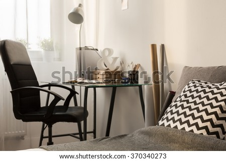 Modern room for young architect or designer