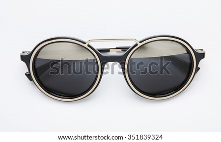 modern round sunglasses isolated