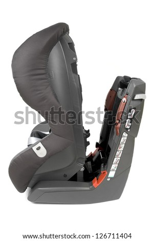 Modern safety car seat for children isolated on white background. - stock photo