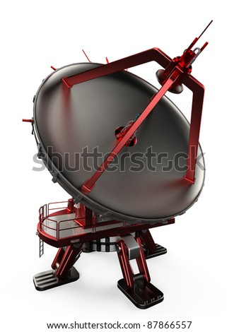 modern satellite dishes antenna - stock photo