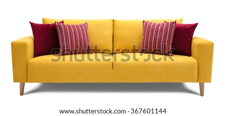 Modern Scandinavian sofa - stock photo