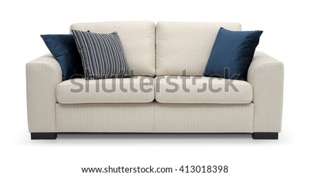 Modern Scandinavian sofa - stock photo