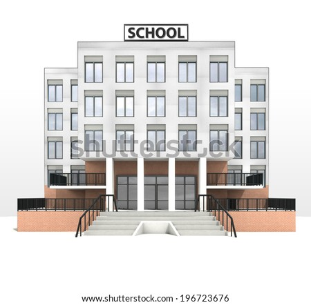 Modern school building design front facade stock for Modern school building designs